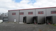 Neubau einer Logistikhalle mit Überdachung Verladehof in Ortrand - HGB Hallen- und Gewerbebau Dresden GmbH