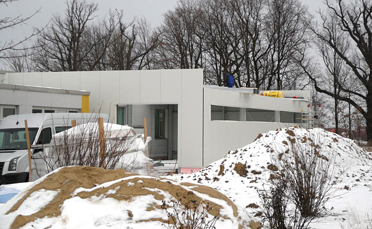 Anbau einer Lagerhalle in Klipphausen - HGB Hallenbau und Gewerbebau Dresden GmbH