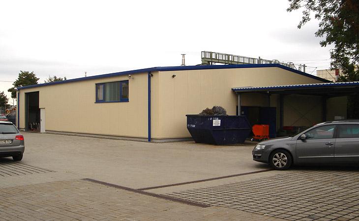 Neubau einer Produktionshalle in Dresden - HGB Hallen- und Gewerbebau Dresden GmbH